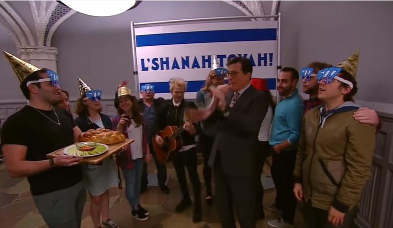 Stephen Colbert S Rosh Hashana Celebration Bang It Out